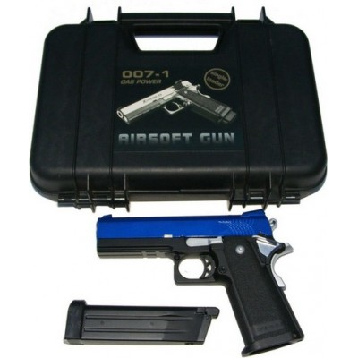 K-Warrior 1911 Full Metal Airsoft Gas Powered Fully Automatic BB Gun Pistol with Blow Back 330 FPS