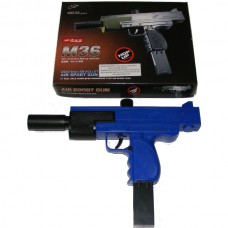 Double Eagle M36 Spring Powered Plastic BB Gun Pistol (Uzi Replica)